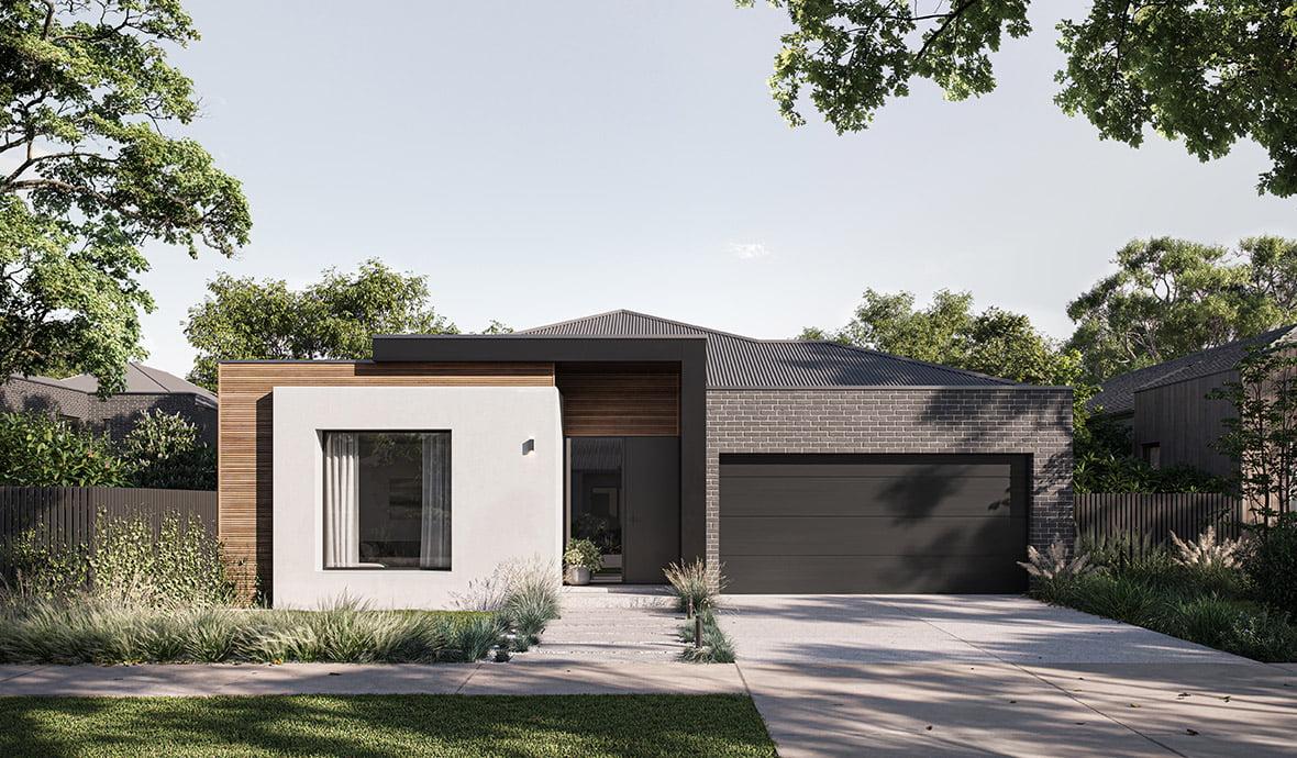 Arli Homes Cedar facade